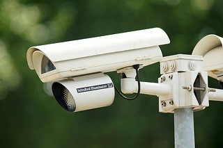 Surveillance camera capturing footage